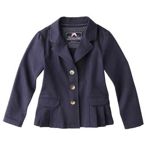 French Toast® Girls' Twill Blazer Navy