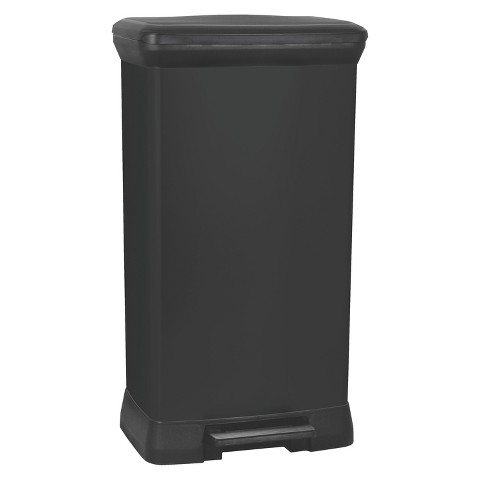 Curver 50 Liter Rectangle Step Open Trash Can