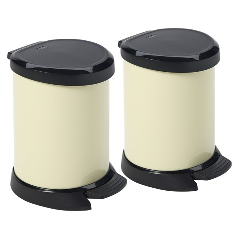 Curver Deco 5 Liter Bin - Set of 2
