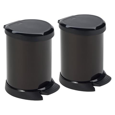 Curver Deco 5 Liter Bin - Set of 2