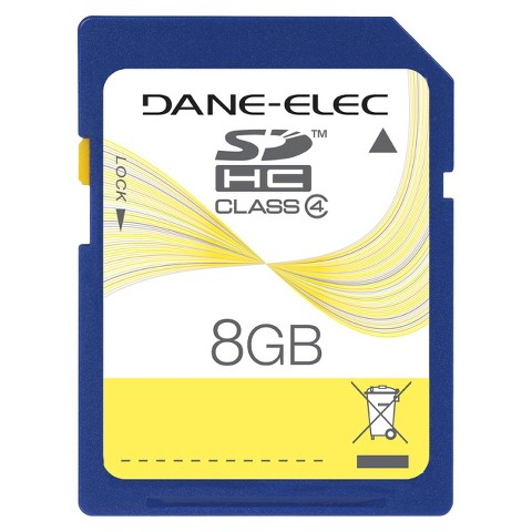 Dane 8GB SD Memory Card - Black (DA-SDHS08GT3-C)