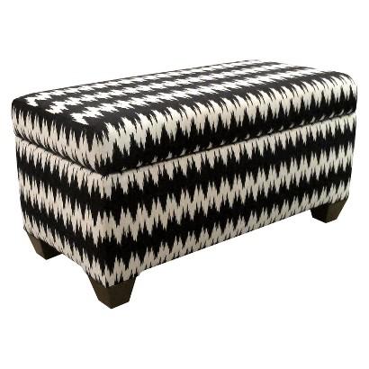 Skyline Furniture Gopala Storage Bench - Black/White
