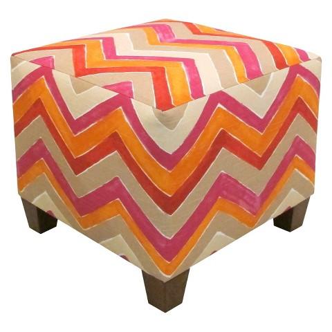 Skyline Furniture Nomad Ottoman - Multicolored