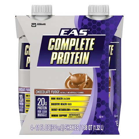EAS® Complete Protein Chocolate Fudge Protein Shake - 4 pack (11 oz each)