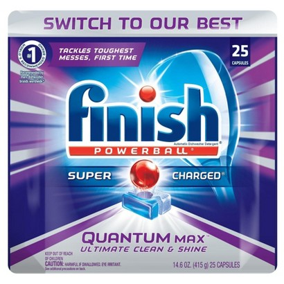 Finish Quantum Power Gel Dishwasher Detergent 25 ct