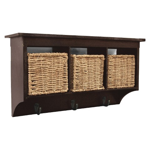 Threshold™ Entryway Organizer with Seagrass Baskets and Hooks - Assorted Colors