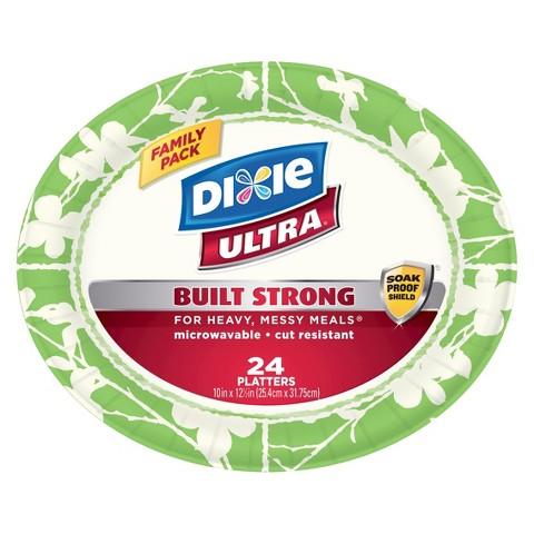 Dixie Ultra Family Pack 10' Platters 24 Count