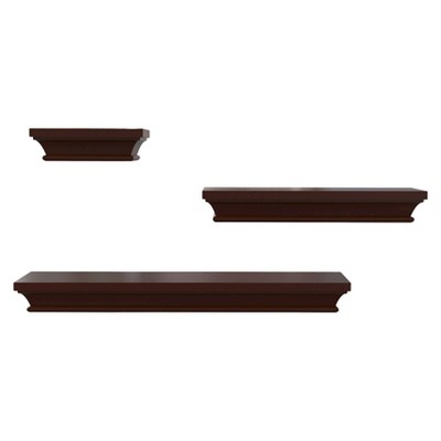 Threshold™ Set of 3 Traditional Shelves - Espresso
