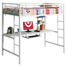 Walker Edison Metal Workstation Loft Kids Bed...