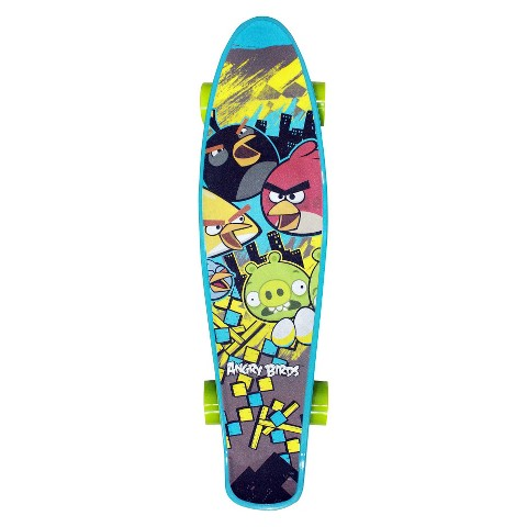 "Street Flyers Angry Birds Mini Skateboard - Blue (22"")"