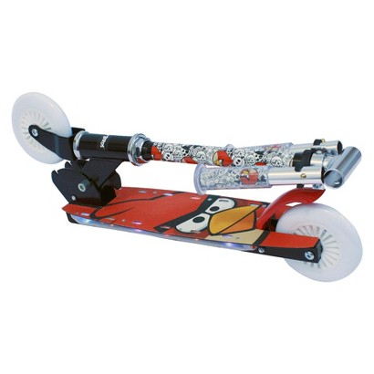 Street Flyers Angry Birds 2 Folding Scooter with Flashing Lights - Red