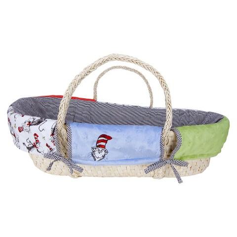 Trend Lab Moses Basket Set - Dr. Seuss Cat In The Hat