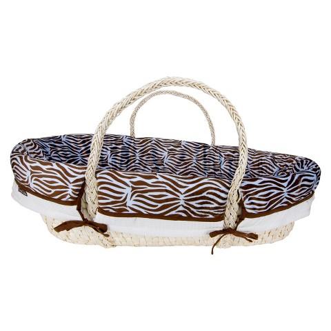 Trend Lab Moses Basket Zebra