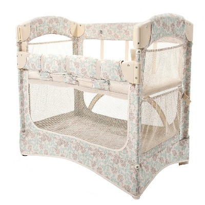 Arm's Reach Mini Arc Co-Sleeper Bassinet - Damask