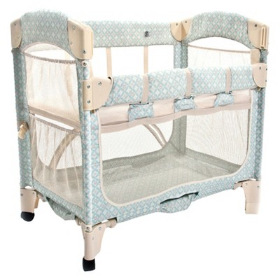 Arm's Reach Mini Arc Co-Sleeper Bassinet - Turquoise Geo
