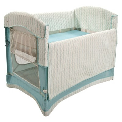 Arm's Reach Ideal Arc Co-Sleeper Bassinet - French Blue Stripe