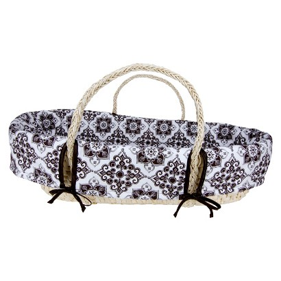 Trend Lab Moses Basket Set - Versailles Black/White