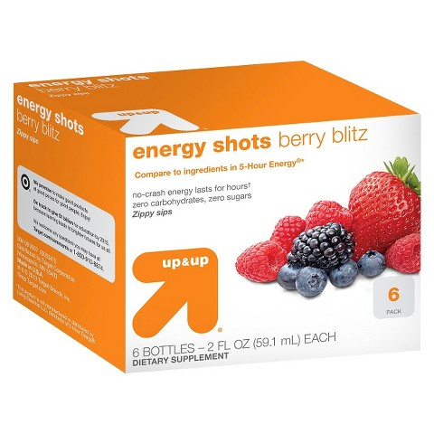 up & up™ Berry Flavor Energy Shots - 6 Count (2 oz Each)