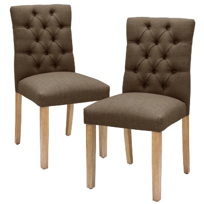 Threshold™ Brookline Tufted Dining Chair Set of 2 Tar