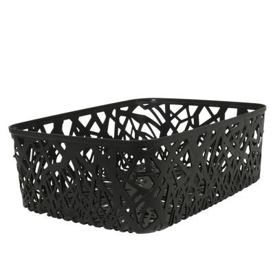 Room Essentials™ Branch Weave Storage Bin Set of 4 - Ebony Medium
