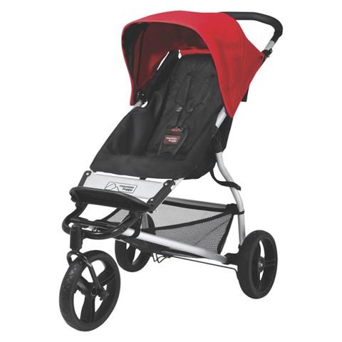 Mountain Buggy Mini Compact Stroller - Black/Chili