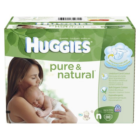 HUGGIES® Pure & Natural Baby Diapers  Super Pack (Select Size)