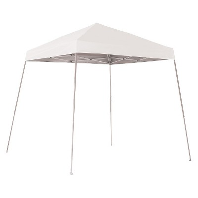Shelter Logic 10' x 10' Sport Slant Leg Pop-Up Canopy - White