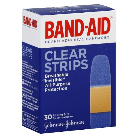 "Band-Aid® 3/4"" Clear Strips Bandage - 30 count"