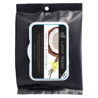 Face Wipes   86642 ELF 15ct Lotion Vanilla/Coconut