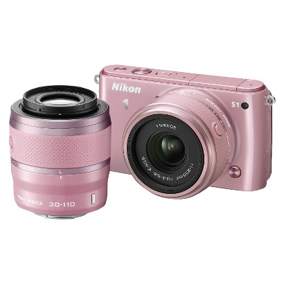 Nikon 1 S1 10.1MP Digital Camera with 11-27.5mm and 30-110mm Lenses