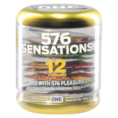 ONE 576 Sensations Condoms - 12 Count