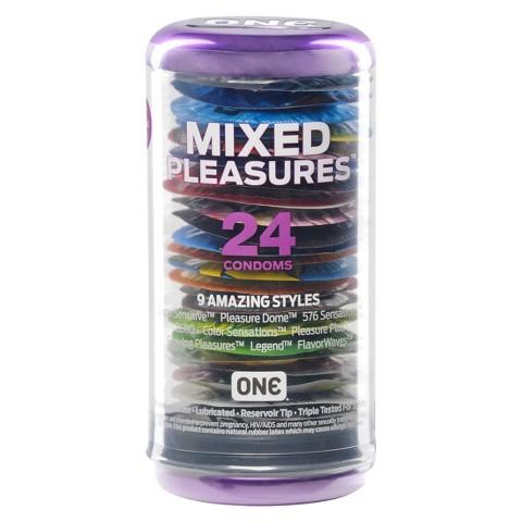 ONE Mixed Pleasures Condoms - 24 Count