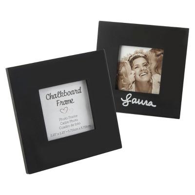 Kate Aspen Chalkboard Square Black Frame - Set of 12