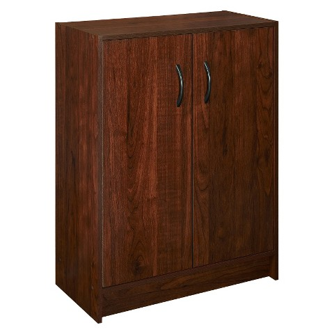 ClosetMaid 2-Door Stackable Cabinet - Dark Cherry