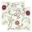 Safavieh 2-Pack Bejeweled Stitched Floral Toss Pillows (18x18