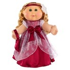 Cabbage Patch Kids 30th Anniversary Holiday Kid Caucasian Girl with Blonde Hair and Burgundy Dress