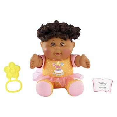 Cabbage Patch Kids Toddler African American Girl with Brown Hair and Orange Pajamas