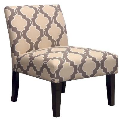 Avington Upholstered Slipper Chair - Geometric Stone