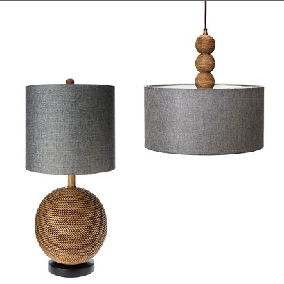 Mudhut™ Rope Textured Lighting Collection