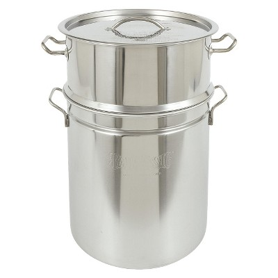 Bayou® Classic Stainless Stockpot & Steamer - 36 Qt.