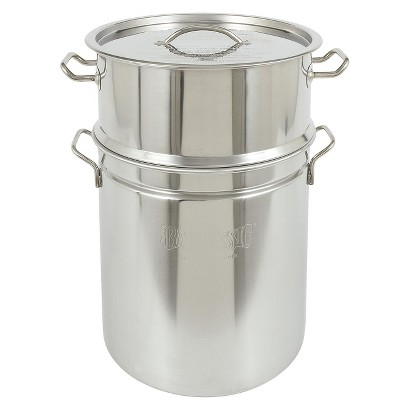 Bayou® Classic Stainless Stockpot & Steamer - 40 Qt.
