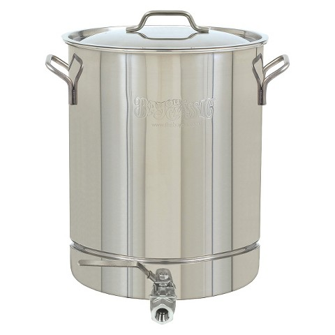 Bayou® Classic Stainless Stockpot with Spigot - 10 Gal.