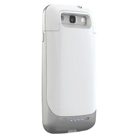 mophie Juice Pack Mobile External Battery Charger Case for Samsung Galaxy SIII - White (39463TGW)