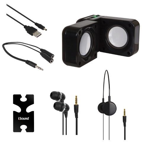 i.Sound 5-in-1 Travel Sound - Black (ISOUND-1614)