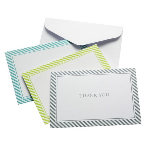 Thank You Cards with Diagonal Stripes (24 count)