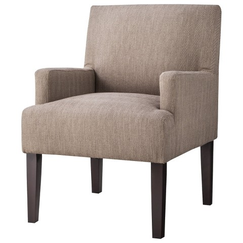 Dolce Upholstered Accent Arm Chair- Tan
