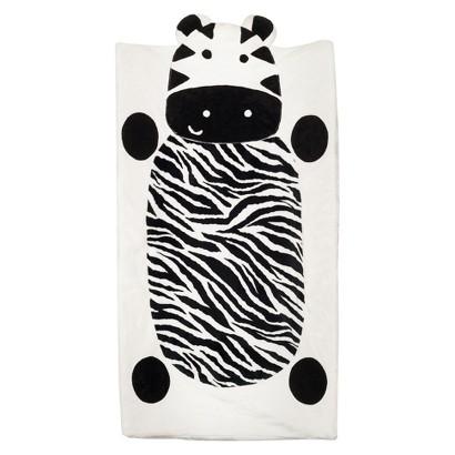 CoCaLo Plushy Zebra Changing Pad Cover
