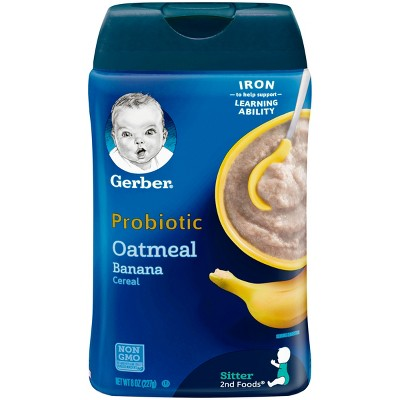 Gerber Cereal Oatmeal & Banana 8 oz