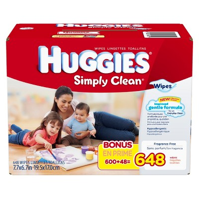 HUGGIES® Simply Clean® Baby Wipes Refill (648 Count)