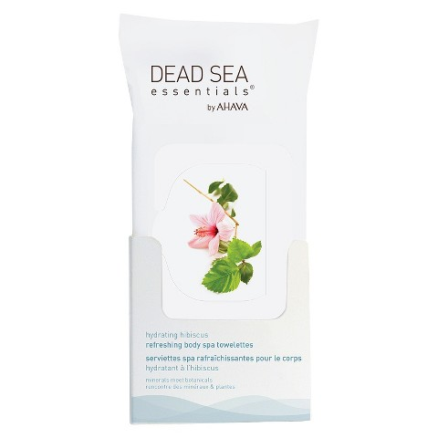 Dead Sea Essentials®  by AHAVA Hydrating Hibiscus Refreshing Body Spa Towelettes